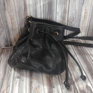 Madden Perforated Strap Crossbody Bag Small